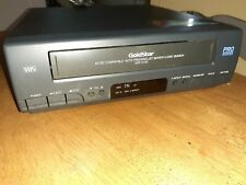 New listing Goldstar 90 Vcr Vhs Video Cassette Player Da 4 Head, Some Wear Works, As Is