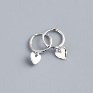 Fashion Heart Gold Silver Earrings Hoop Drop Dangle Women Simple Jewelry Gifts