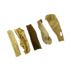 Natural Beef Head Scalp Skin Strips - Approx 15cm Natural Dog Chew Long Lasting