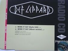 DEF LEPPARD WORK IT OUT UK PROMO CD