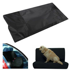 Black 2Pcs Water Resistant Rear Car Seat Protector Cover For Base/Back of Seats