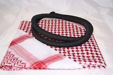 Arafat arab scarf shawl Keffiyeh Kafiya shemagh desret palestine + Igal Agal set