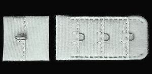 "Bra Closure Hook and Eye Making Repair Lingerie Making 3/4"" White 25 Sets #TW64"
