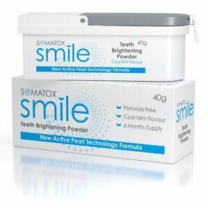 SOMATOX SMILE - Teeth Brightening Whitening Powder | 6 Mth Supply •
