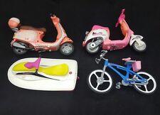 Barbie Vehicle Lot / 2 Scooters/ Jet Ski/ Bicycle