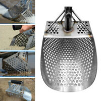 Stainless Steel Beach Sand Scoop Shovel Treasure Detector Silver Hunting Tool