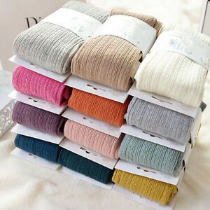 Women Warm Wool Blend Tight Pantyhose Seamless Twist Wave Winter Spring Stocking
