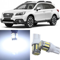 14 x Super Bright White Interior LED Lights Package For 2010-2019 Subaru Outback