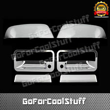 For Chevy Tahoe 1995-99 2 door Handle W/Psgkh + Upper Mirror 2Pc Chrome Covers