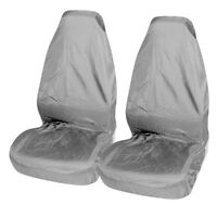 VAUXHALL CORSA E 2014 ON - Waterproof Front Car Seat Covers Protectors Grey 1-1