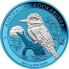 Australia 2019 - Kookaburra Ag .9999 silver 1oz Space Blue Edition 043 of 500