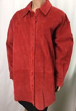 Bagatelle Red Leather Button Coat See Measurements For Size About Womens L