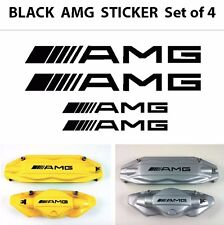HI TEMP Set of 4 AMG Decal sticker vinyl caliper brake custom size color - black