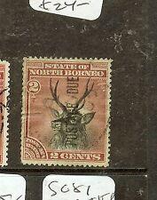 NORTH BORNEO   (P2907B) 2C  DEER   POSTAGE DUE   SGD2   VFU