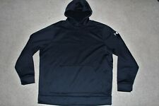 Mens Sz XXL 2XL Under Armour Storm Fleece Black Sweatshirt Hoodie Pullover Loose