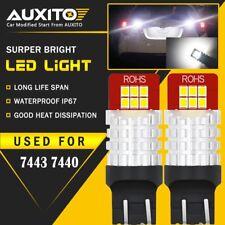 2X 7443 7440 Backup Reverse light Bulbs LED 6000K White For Honda GMC Ford EOA