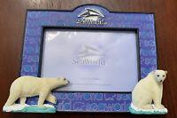 "Seaworld Polar Bear Photo Frame Holds 4"" X 6"" New!"