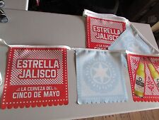 NEW Estrella Jalisco Cinco De Mayo Papel Picada Beer String Banner Mexico T=
