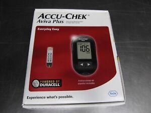 Accu-check Aviva Plus Blood Meter Glucose Monitoring System Kit