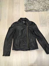 Muubaa Black Leather Jacket. Size UK 8.