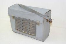 antiguo DDR Funda para Radio, Bolso de hombro, Cuero gris