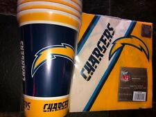 20 Paper Cups & 20 Napkins - 16 oz. Los Angeles Chargers PartyWare  LA