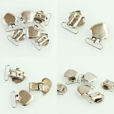 Metal Holder Insert Pacifier Heart Shape Plastic Suspender Clips Mitten 10 Pcs