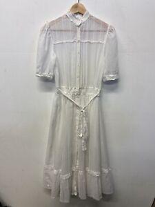Vtg Gunne Sax White Size 9 1980's Jessica McClintock Cottagecore Lace
