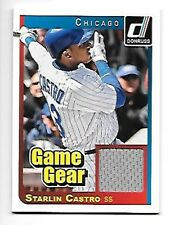 STARLIN CASTRO 2014 DONRUSS GAME GEAR MATERIALS #24 CUBS FREE COMBINED S/H