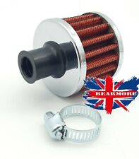CRANK CASE ENGINE BREATHER FILTER CAR MOTORCYCLE QUAD BIKE 12MM RED ROUND