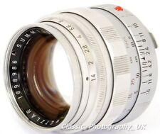 Summilux 50mm F1.4 Type 2 LEITZ SOOME 11 114 FAST! LEICA-M Prime Lens from 1961