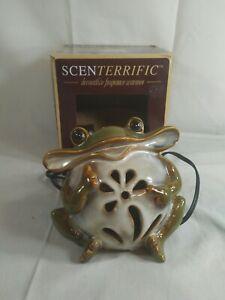 Scenterrific Frog Lamp Warmer W/Vanilla Scent Disk Woodland Light Westinghouse