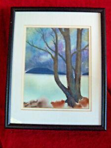 Lois Need 'Alaska Winter' Watercolor Painting Still Life Signed Framed 11x14