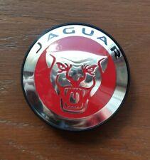 JAGUAR RED GROWLER CENTER WHEEL CAP. Genuine. New.