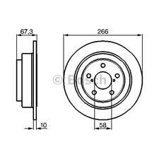 ORIGINAL BOSCH Bremsscheiben Satz Subaru Forester Bj.89- - 0 986 478 799