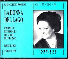 ROSSINI: La Donna Del Lago 2-CD -Piero Bellugi (Monsterrat Caballe) Torino 1970