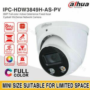 Dahua 8MP Full-Color WizSense IPC-HDW3849H-AS-PV IP Camera MIC Speaker LED Light