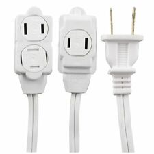 12 feet GE Extension Polarized Indoor Cord with Temper Guard ~ White ~ 51954