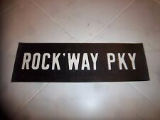 VINTAGE NYC NEW YORK N.Y. SUBWAY ROLL SIGN ROCKAWAY PARKWAY CANARSIE BROOKLYN