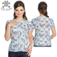 Hell Bunny Andrina Rockabilly Pinup Swing Vintage Mermaid Top Blouse XL-4XL