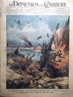 La Domenica del Corriere 30 Marzo 1941 WW2 Malta Reich e Umanità Merlini Inglesi