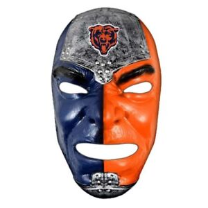 CHICAGO BEARS Fan Mask PVC Elastic Band Halloween Game Time Tail Gate Brand New