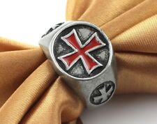 MENS Freemasons Masonic Band Ring, Stainless Steel Ring maltese cross St. GEORGE