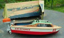 Marx Vacationer 22 Battery Op Outboard Motor Cabin Cruiser 1950's Japan