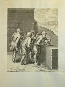 Otto VAN VEEN ( 1556 - 1629) GRAVURE XVII° MANIERISME MYTHOLOGIE FLANDRES 1607 e