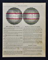 1887 Cowperthwait Map - World in Hemispheres - Climate Temperate Zones Equator