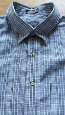 "Van Heusen Wrinkle Free Blue & White Check Short Sleeve Shirt 16-16.5"" Large VGC"
