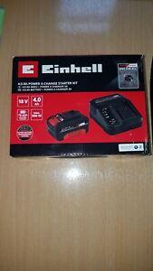BNIB Einhell Power X-Change 18V 4Ah / 4.0Ah Battery & Fast Charger Starter Kit