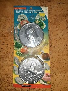Silver Dollar Mold Fairgrove Kennedy 1972 Silver Dollar Cake Jello New