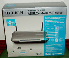 Belkin Wireless G + Plus Mimo Router Wireless Adsl 2+ Modem Router 28.3oz
